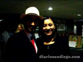 Bruno Bichir visitó San Diego como uno de los invitados de honor del Festival de Cine Latino recibiendo reconocimiento como uno de los miembros de la lista de 10 Top to Watch, el actor estuvó féliz de convivir con el público sandieguino.