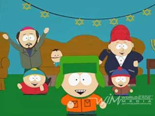Canción de Dreidel de South Park (Español latino) cantada por Kyle, Cartman, Stan y la mamá y papá de Kyle.  Tengo un pequeño dreidel que de barro fabriqué, cuando esté seco y listo, puedo jugar con él.  Dreidel, dreidel, dreidel que de barro fabriqué, dreidel, dreidel, dreidel con dreidel jugaré.