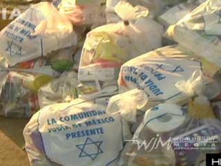 La comunidad judía en México recolectó 30 toneladas de comida y 50 toneladas de ropa y agua para los damnificados de Angangueo, en Michoacán. Las despensas fueron entregadas mano a mano por el grupo que recolectó la ayuda humanitaria en la Ciudad de México.