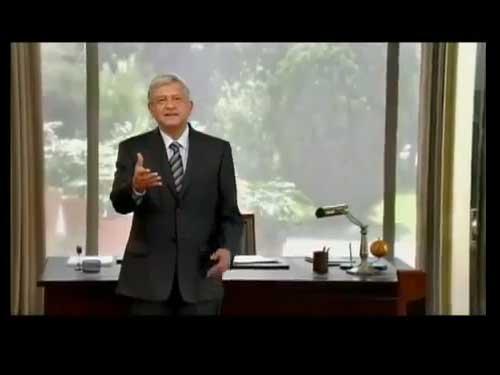 Primer spot para television de la campaña presidencial del candidato de la izquierda, Andrés Manuel López Obrador.