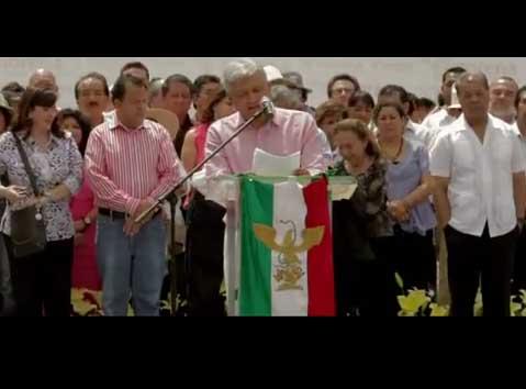 Spot con imágenes de la asamblea del 5 de junio de 2011 en el Zócalo de la Ciudad de México.  Ustedes representan la conciencia honrada que se subleva ante la injusticia, ustedes luchan por una nueva vida