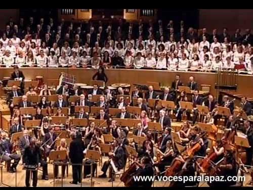 Concierto Voces para la Paz (Músicos Solidarios) 2011 Auditorio Nacional de Música de Madrid Madrid, 12 de junio de 2011 Director: Miguel Roa Solista: Alfredo Anaya Proyecto: Pozos en Níger