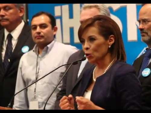 Josefina Vázquez Mota asiste al segundo debate de Candidatos a la Presidencia de la República.