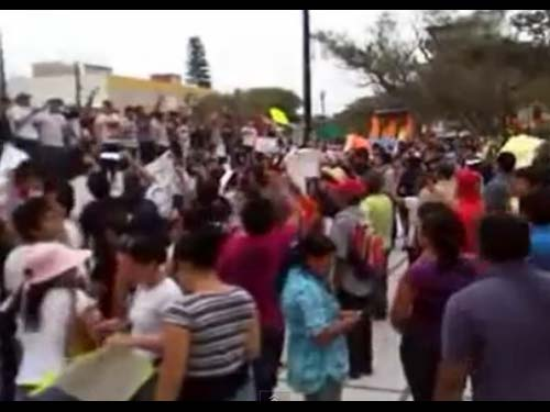Peña Nieto Rechazado en Coatzacoalcos
